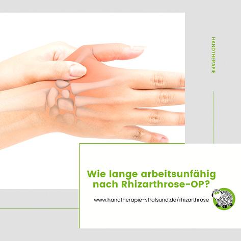 Wie lange Arbeitsunfähig nach Rhizarthrose OP